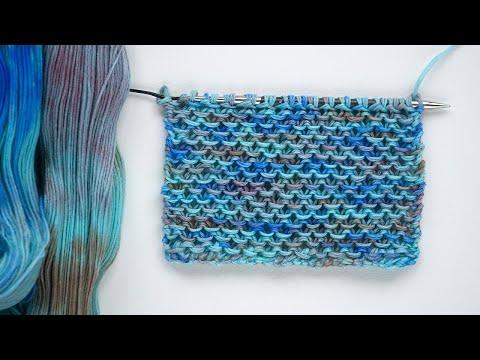 Вязание спицами ПРОСТЫХ узоров | узор Чешуйки