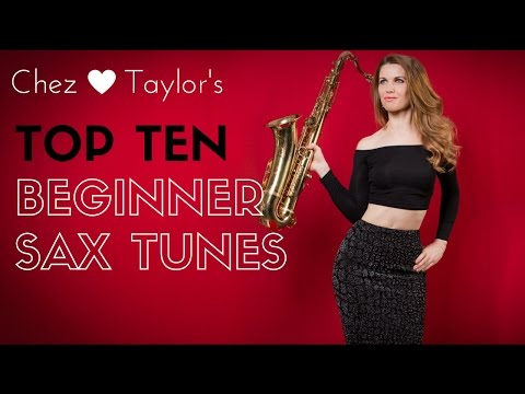 Top 10 quick easy tunes for Beginner saxophone player 🎶  saxophone lessons / tutorials
