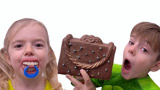 Anabella and Bogdan staged a chocolate challenge