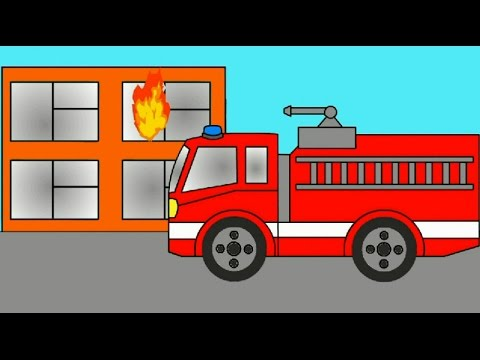 Cartoon About Fire Engine Police Car And An Ambulance Learning Colors Coloring Book