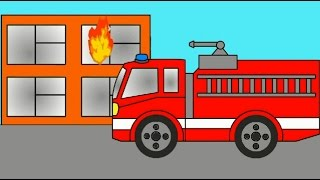 Cartoon about fire engine, police car and an ambulance! Learning colors. Cartoon coloring book