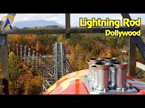 Lightning Rod Roller Coaster POV at Dollywood