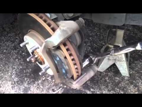 Toyota Brake Pads >> Replacing brakes and rotors on 2003 toyota Avalon - YouTube