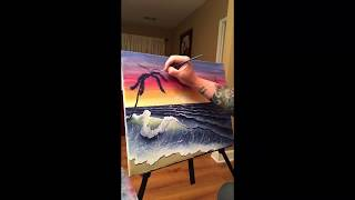 J Spray Paints A Beach Scene