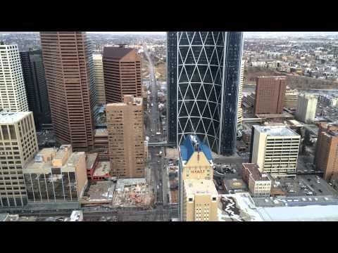 Calgary Time Lapse (Centre Street and Telus Sky preparations)