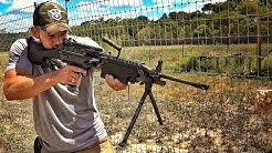 How Fast can an M249 SAW saw a board???