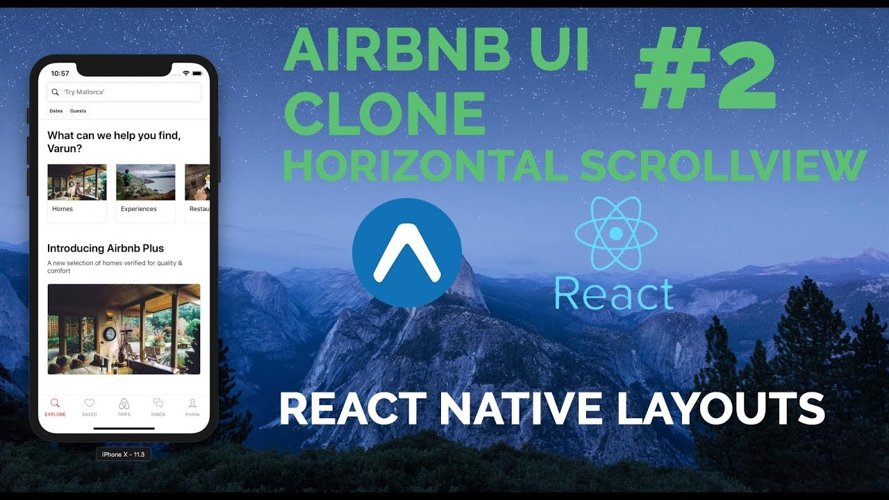 #2 Airbnb UI | React Native | Horizontal ScrollView | Layout Series | Expo