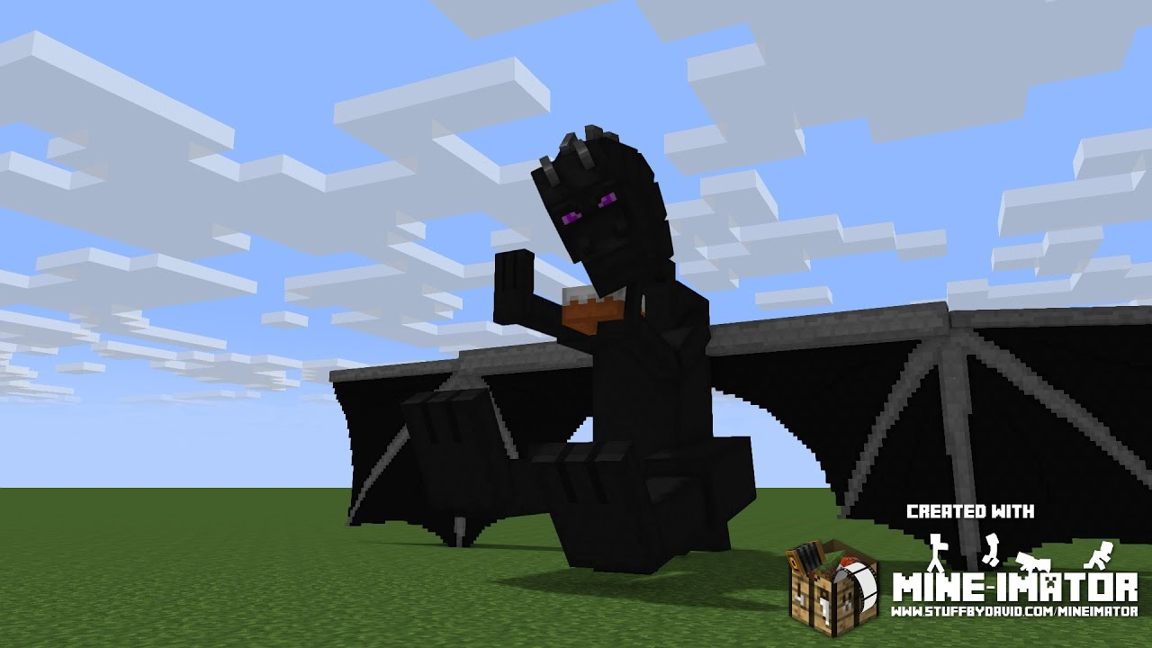 Minecraft ender dragon real life