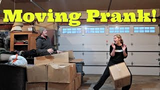 MOVING PRANK!  (Hiding in a box and scaring Nikki)