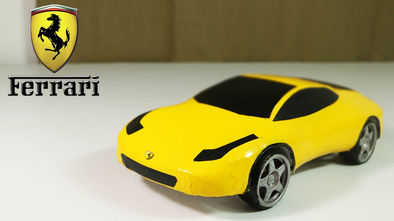 Make an Electric Ferrari Car Out Of Polystyrene Foam - YouTube