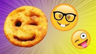 Emoji Pommes Frites einfach selber machen - ein Rezept für ein leckeres Abendessen