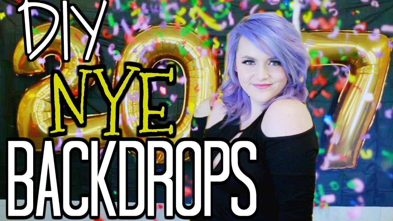 Diy New Years Eve Photo Booth Back Drop Ideas Youtube