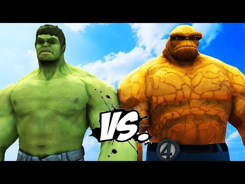 THE HULK VS THE THING - EPIC SUPERHEROES BATTLE   DEATH MATCH
