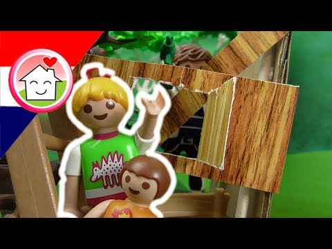 playmobil filmpjes nederlands de boomhut - familie huizer