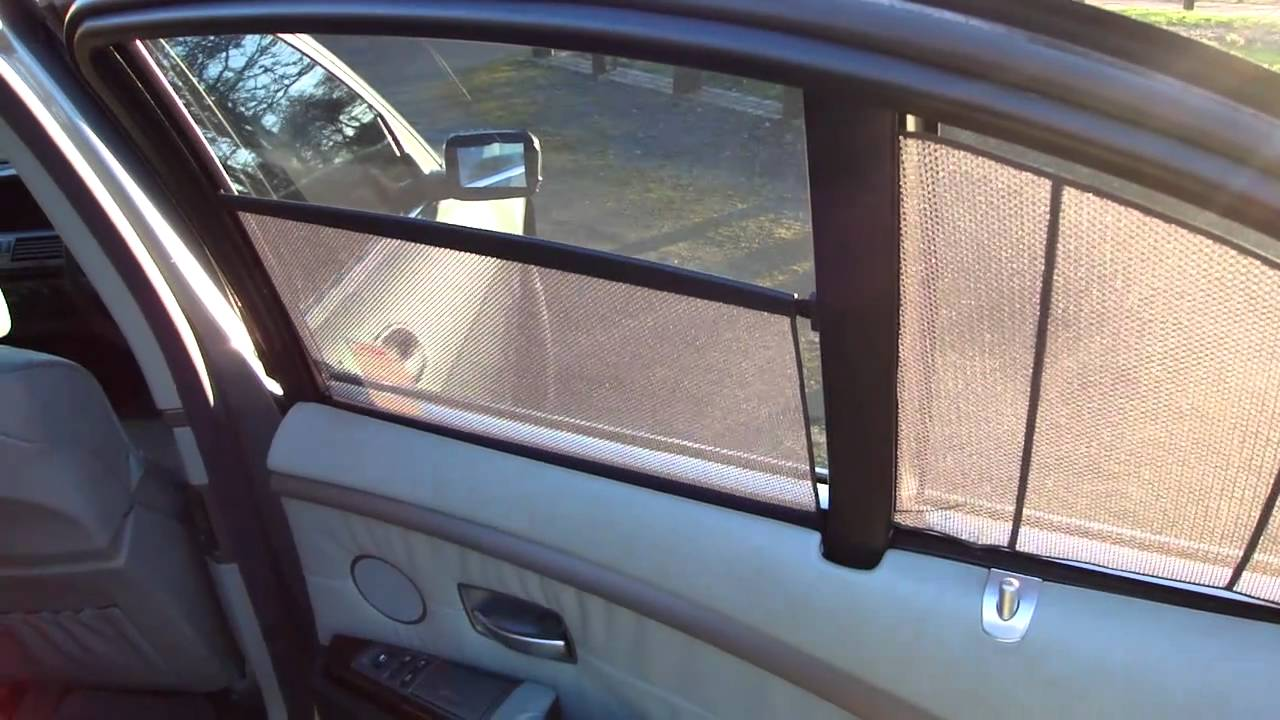 Bmw 745i Electric Rear Blinds Youtube