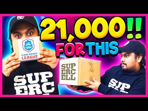 I PAID 21,000 FOR THIS... Clash Of Clans & CRL Unboxing Clash Royale SUPERCELL INDIA
