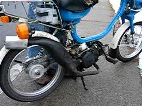 Moped For Sale >> yamaha qt50 kitted moped expansion chamber exhaust - YouTube