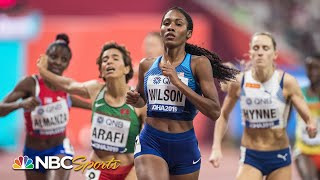 Ajee Wilson punches her ticket to 800m world championship final | NBC Sports