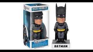 Batman Official Dc Comics Funko Wacky Wobbler Bobblehead Figure In Display Box