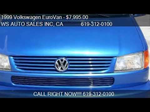 1999 Volkswagen EuroVan GLS VR6 for sale in EL CAJON , CA 92