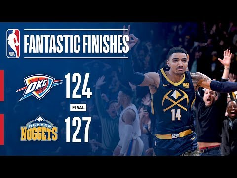 CLUTCH Moments Down the Stretch Between Thunder and Nuggets | February 01, 2018