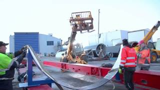 Loading at NCE Finland. Scrubber transport to Denmark