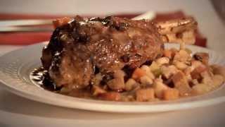 Lamb Shank In Portobello Sauce With White Beans & Chicken Sausage Recipe - Cuisine Solutions