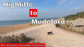 Summary of walk from Highcliffe to Mudeford Quay, with commentary, passing Highcliffe Castle