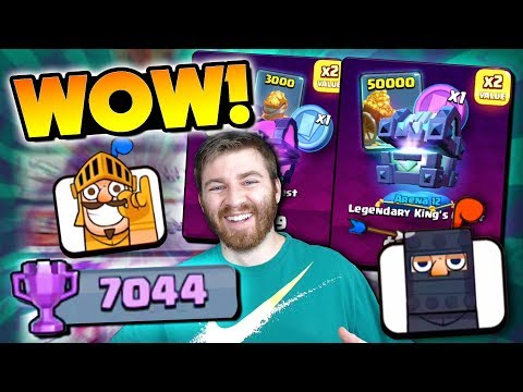 WOW! 7000+ WAR TROPHIES & NEW CYBER MONDAY OFFERS?! | Clash Royale | HIGH LEVEL WAR GAMEPLAY!