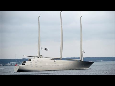 Superyacht 'Sailing Yacht A' Leaves Germany