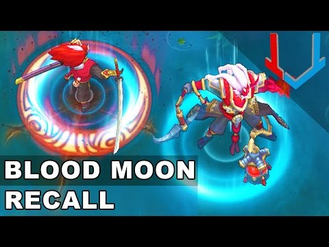 All Blood Moon Skins - RECALL Animations (League of Legends)