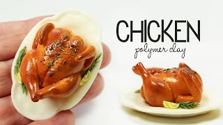 polymer clay Roast Chicken TUTORIAL | polymer clay food