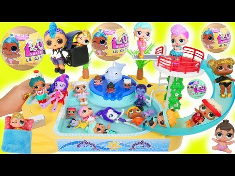 LOL Surprise Dolls Lil Punk Boi Sisters New Pool School House + Wedding with JOJO SIWA Marred