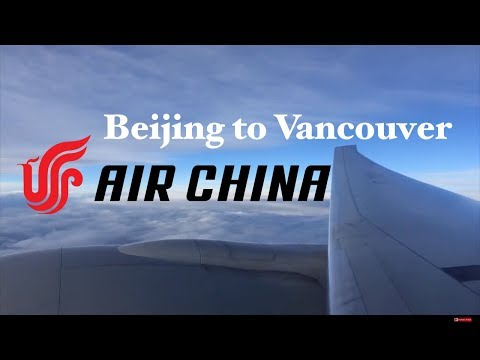Air China B777-300ER economy class review Beijing to Vancouver. PEK-YVR