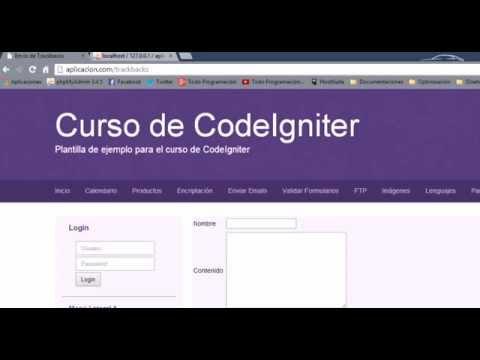 28. Librería Trackback - Curso de CodeIgniter