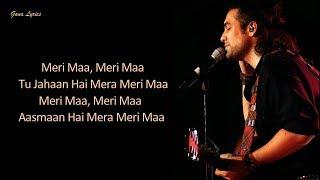 Meri Maa (Lyrics) - Jubin Nautiyal | Mother's Day Special Song 2020