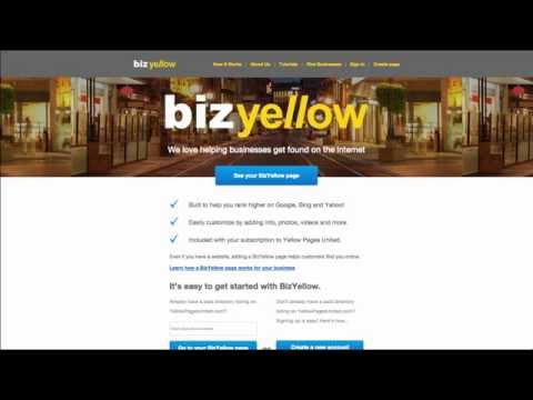 Yellow Pages United - BizYellow Tutorial 2 - Dashboard Page