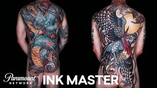 America Gets A Look At The 35-Hour Color Master Canvases | Ink Master: Shop Wars (Season 9)