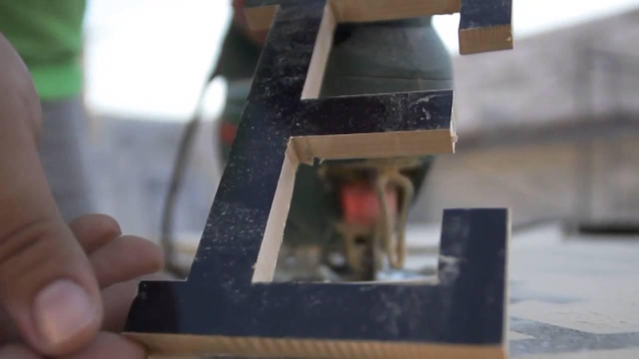 Fabricaci n letras corp reas en dm galcast publicidad youtube - Fabricacion letras corporeas ...