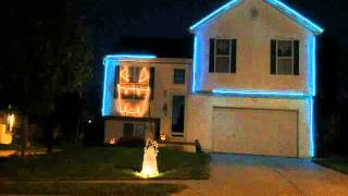 Video Halloween light show 2015 Beetlejuice and Day-O (Banana boat song) download MP3, 3GP, MP4, WEBM, AVI, FLV Desember 2017