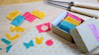 DIY Cut-Out Candy ( a little ASMR ) カラフル・カタヌキつくってみた Do you know Katanuki ?