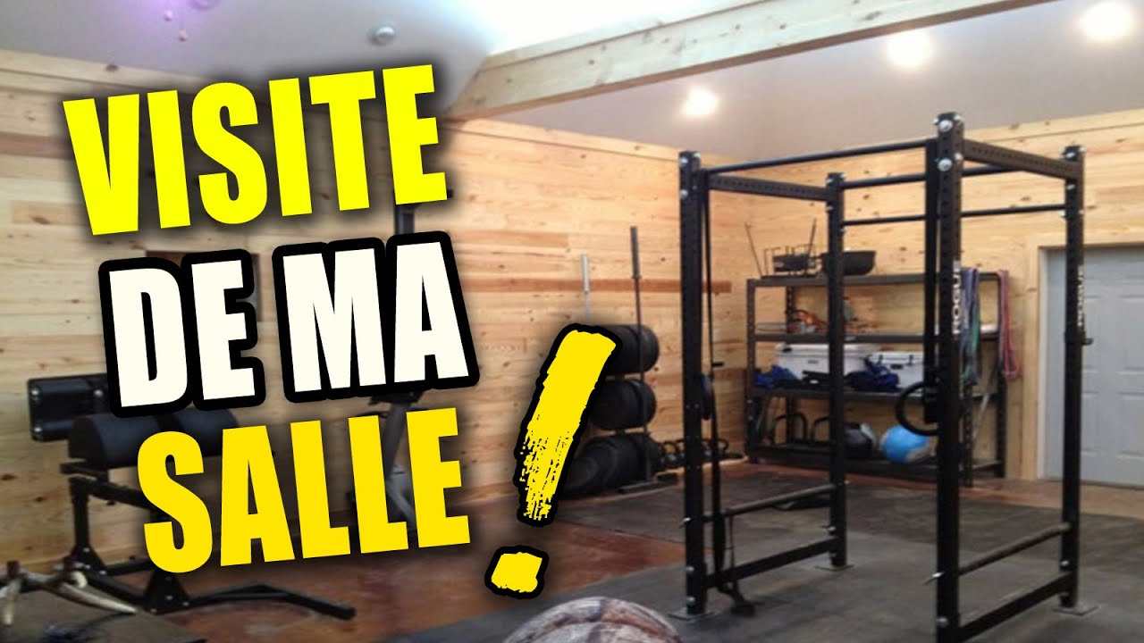 visite guid e de ma salle de musculation garage gym youtube. Black Bedroom Furniture Sets. Home Design Ideas