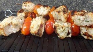 Grilled Rosemary Tuna Skewers Recipe