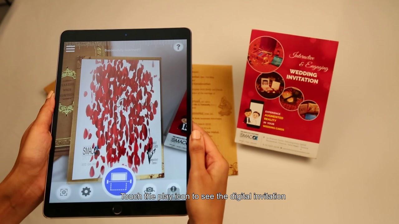 Augmented Reality Wedding Invitations - SMACAR AR App - YouTube