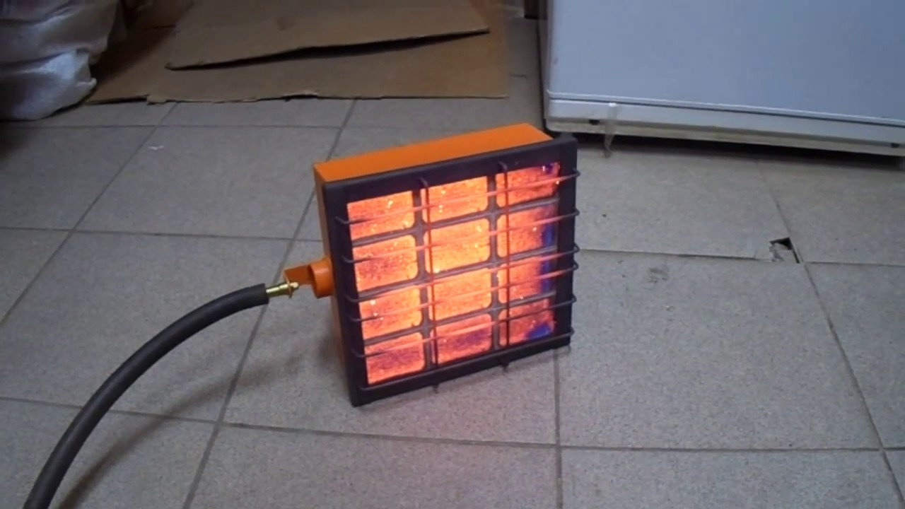Обогреватель на пропане и природном газе (5,5 кВт) - YouTube