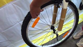 Установка переднего колеса на новый велосипед Haibike из коробки(Выбран долгожданный велосипед. Заказан! Наконец-то получен! Выбрать недорогой горный велосипед можно здесь..., 2014-08-19T12:07:27.000Z)