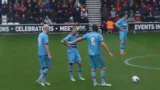 Andy Carroll Free Kick Goal - Southampton vs West Ham (13/04/13)