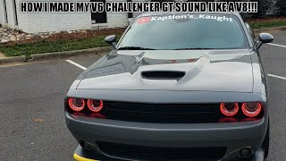 HOW TO MAKE YOUR V6 CHALLENGER OR CHARGER SOUND CLOSE TO A V8!!