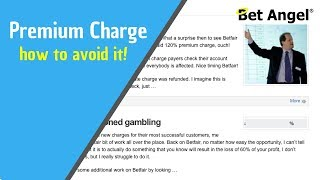 Betfair Premium charge - How it's calculated and how some people avoid it on betting exchanges