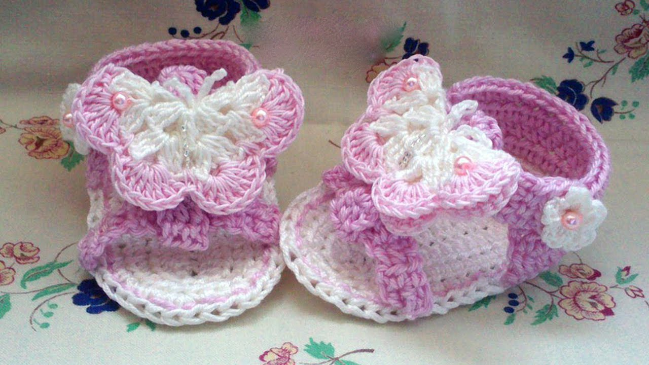 03a7223f801 Crochet Baby Sandals - This Lovely Life - YouTube